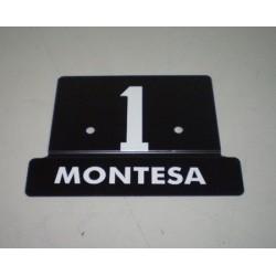 Placa porta numeros cota 25 Ref 1080116