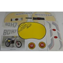 Anagramas Montesa enduro 80 H7 año 1982 ref. 1501