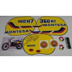 anagramas Montesa Enduro 360 H7 año 1984 ref.1506
