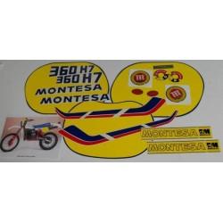 Anagramas Montesa Enduro 360 H7 año 1984 ref. 1507