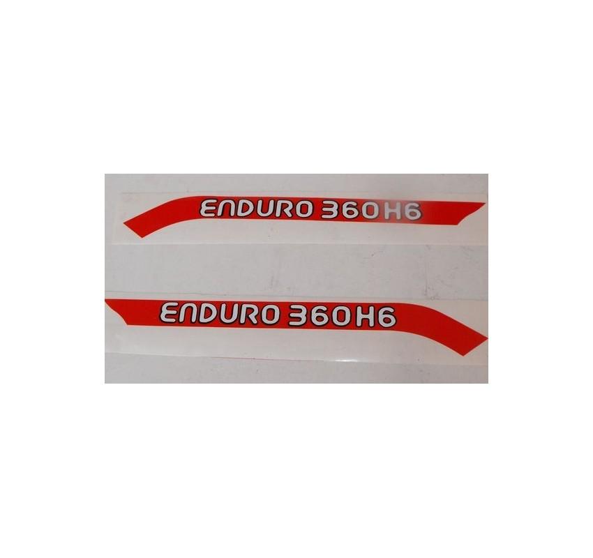 Anagramas tapa lateral Montesa Enduro 360 H6 año 1979-81 ref. 1508