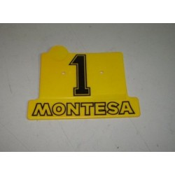 Placa portanumeros plastico cota 25 Ref 1014