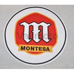 Parche Bordado logo Montesa blanco 24 cm. con thermoadhesivo