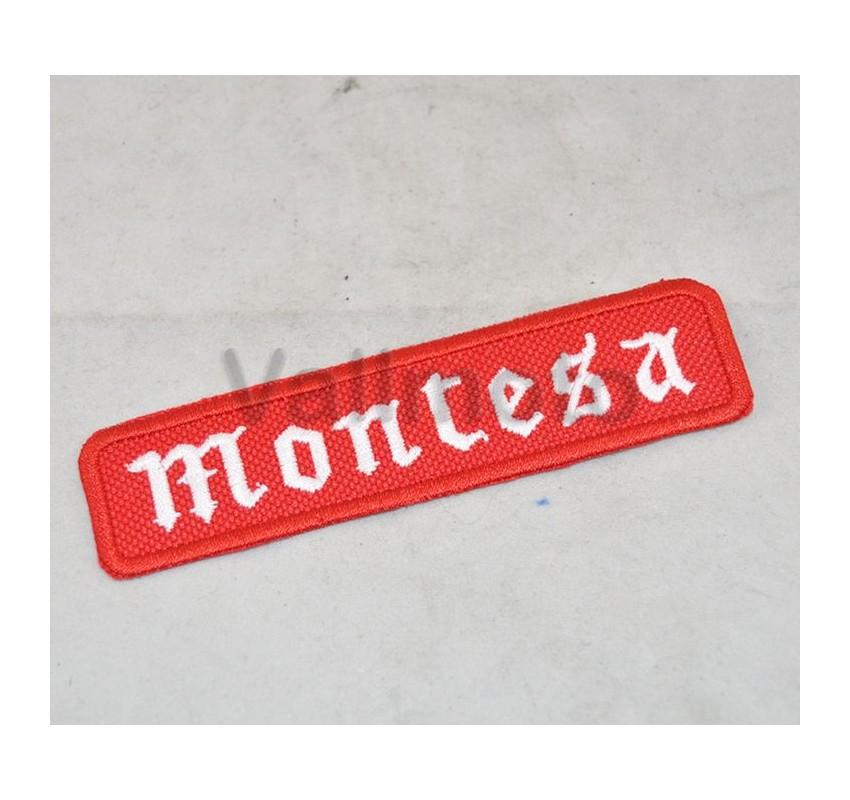 Parche Bordado Montesa rectangular con thermoadhesivo