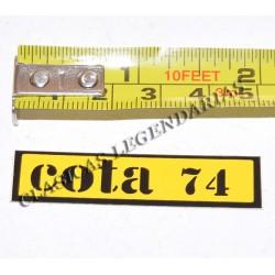 Anagrama cota 74 amarilla R1021
