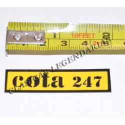 Anagrama montesa cota 247 amarillo ref 1149