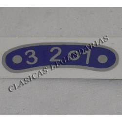 Anagrama placa indicadora brio 3 velocidades ref.066032