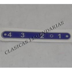 Anagrama Placa Indicadora brio 110 - 150, 4 velocidades.ref.066034