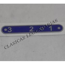 Anagrama placa indicadora brio 150 3 velocidades ref.660321