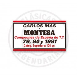 Anagrama Adhesivo Montesa Trial Champion Enduro 80 H7 Ref.A2003