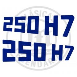 Anagramas Adhesivos placa lateral Montesa Enduro 250H7 ref.74204861