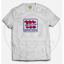 Camiseta Montesa trialsin blanco-azul ref.R01106