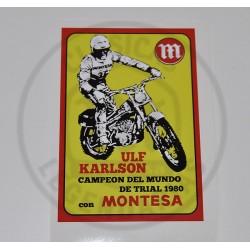 Anagrama adhesivo Montesa Ulf Karlson cuadrado ref.AM2500