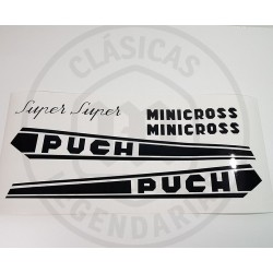 Kit de anagramas adhesivos Puch  Minicross Super ref.APU00100