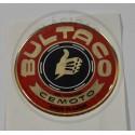 Anagrama Logo Deposito Resina Bultaco Oro y Rojo ref. BU010002