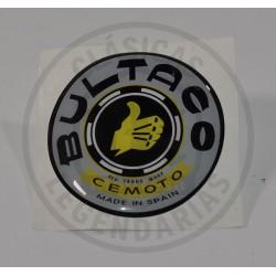 Anagrama Logo Deposito Resina Bultaco gris y negro ref. BU010001