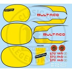 Juego Completo adhesivos Bultaco Frontera MK11 370 Ref.21520001