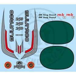 Juego Completo adhesivos Bultaco Pursang MK11 370 Ref.20720001