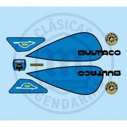 Juego Completo adhesivos Bultaco Lobito MK7 Ref.12820001