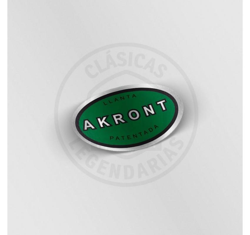 Anagrama llanta Akront verde cromo ref.11902