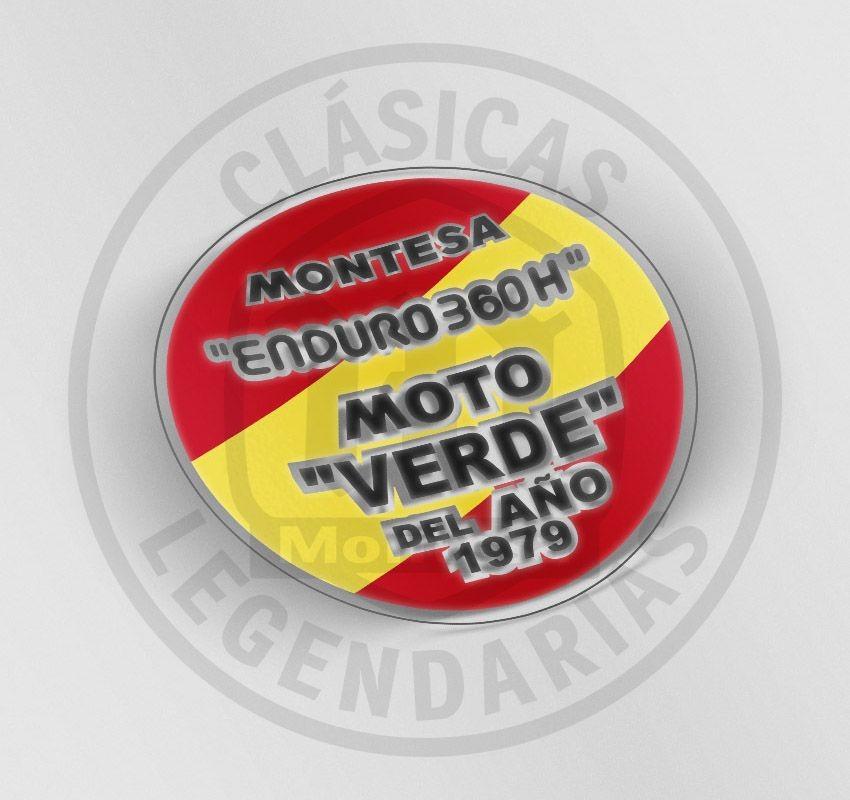anagrama moto verde del año 1979 ref.AML-2006