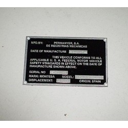 Placa anagrama king scorpion Ref 1223