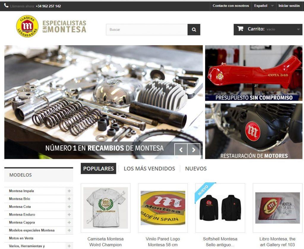 tienda online montesa by Clásicas Legendarias
