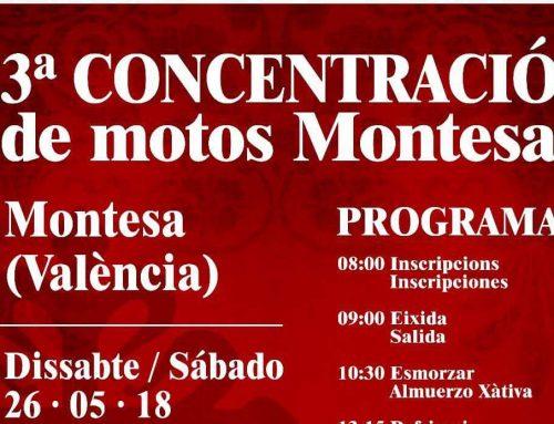 3ª CONCENTRACIÓN DE MOTOS MONTESA en MONTESA (VALENCIA)