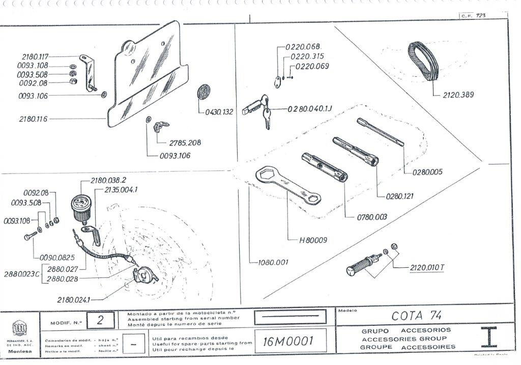 Manual despiece Montesa Cota 74