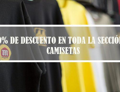 Bienvenido Julio + Descuento del 20% en camisetas Montesa