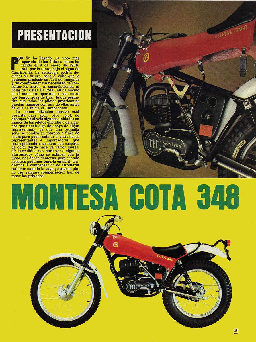 Folleto Montesa Cota 348