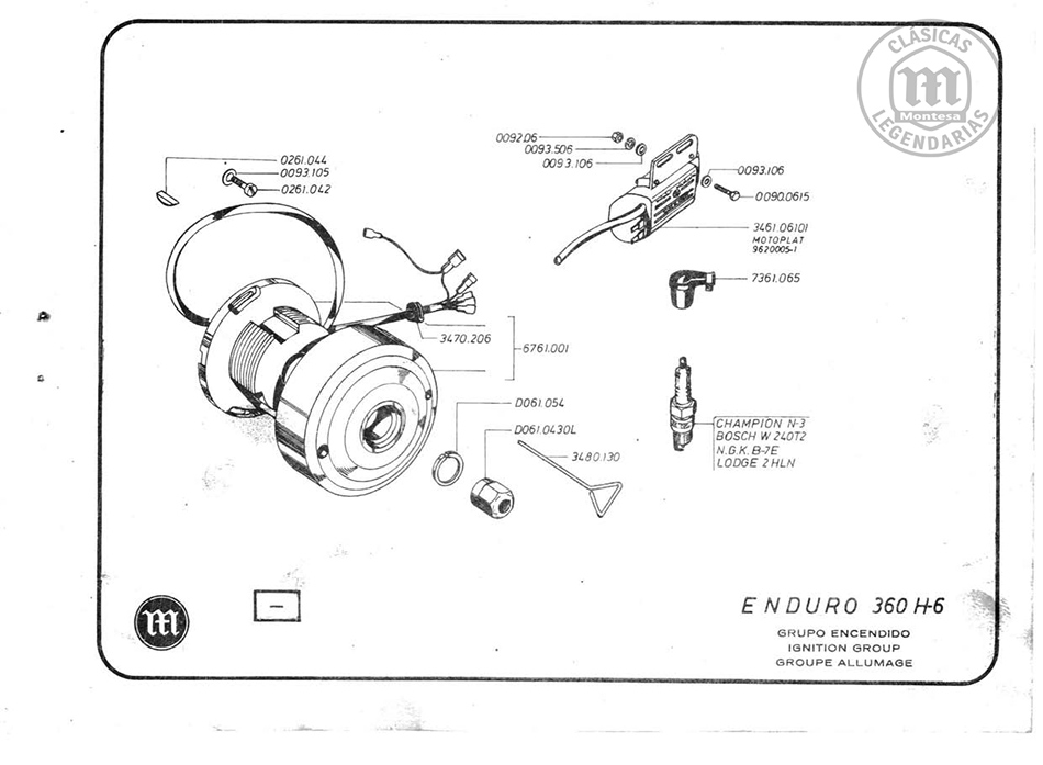 Manual De Despiece Montesa Enduro 360 H6